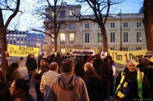 Rassemblement du DAL, place Édouard Hériot, Assemblée Nationale